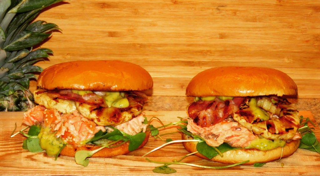 Asian Fusion Lachs Burger