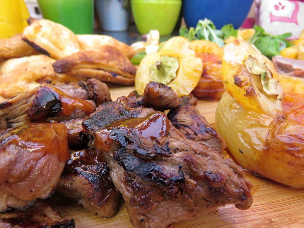 Iberico Schweinefilet mit Apfel Barbecue Sauce