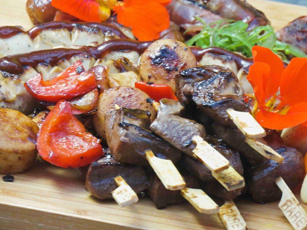 Wildschweinherz-Spieße in koreanischer Bulgogi-Marinade