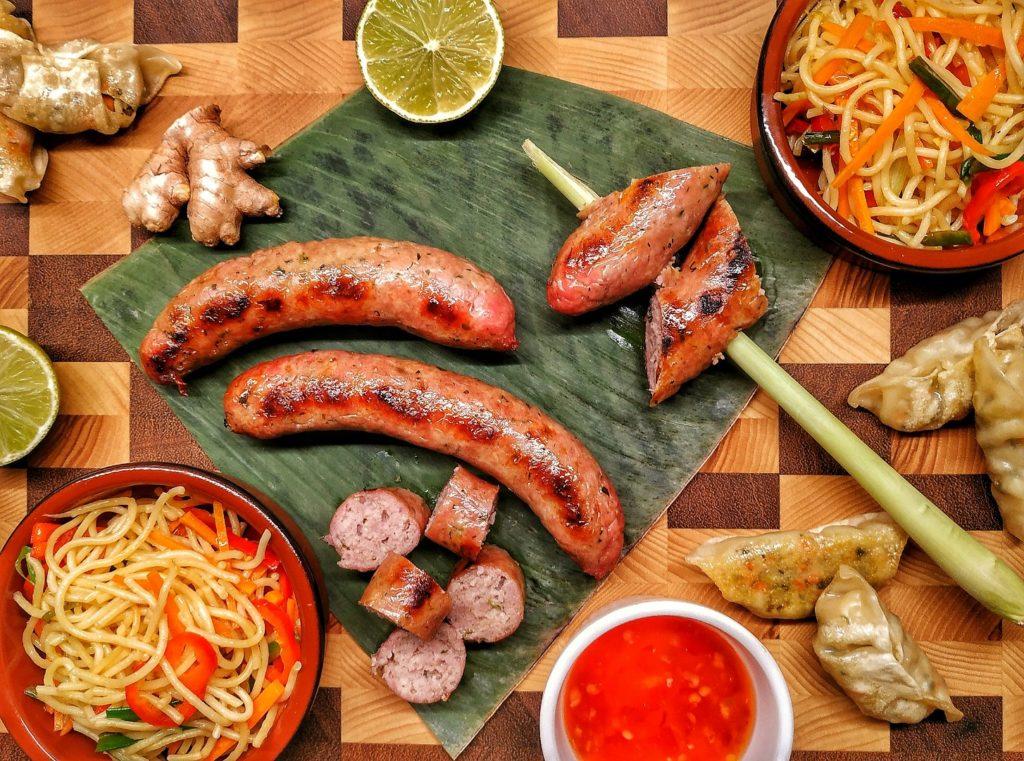 Laotische Bratwurst Sai Gok
