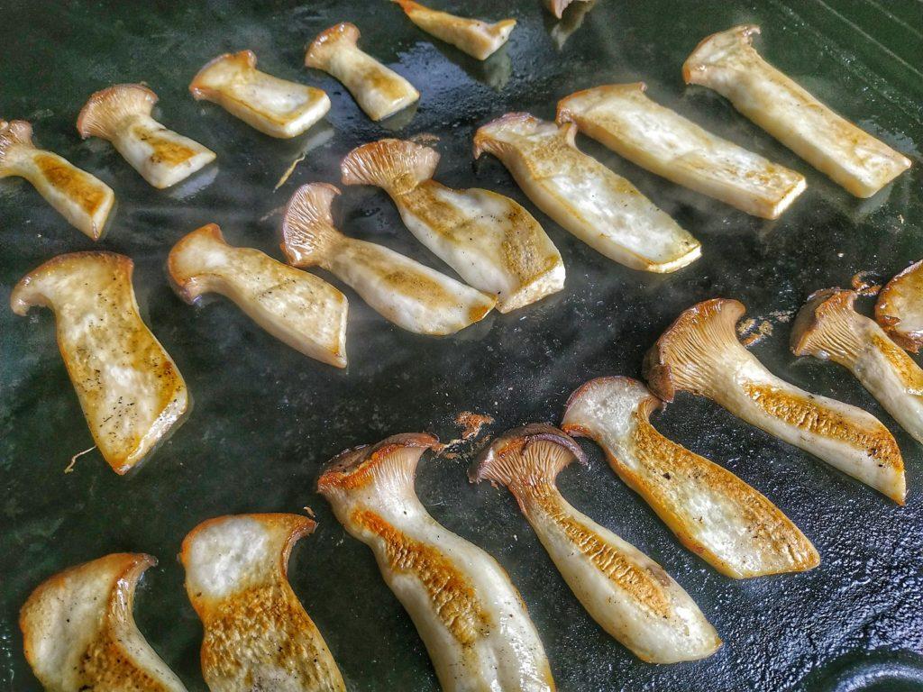 Kräuterseitlinge vom Grill