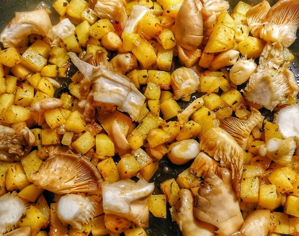 Kartoffeln mit Austernseitlingen