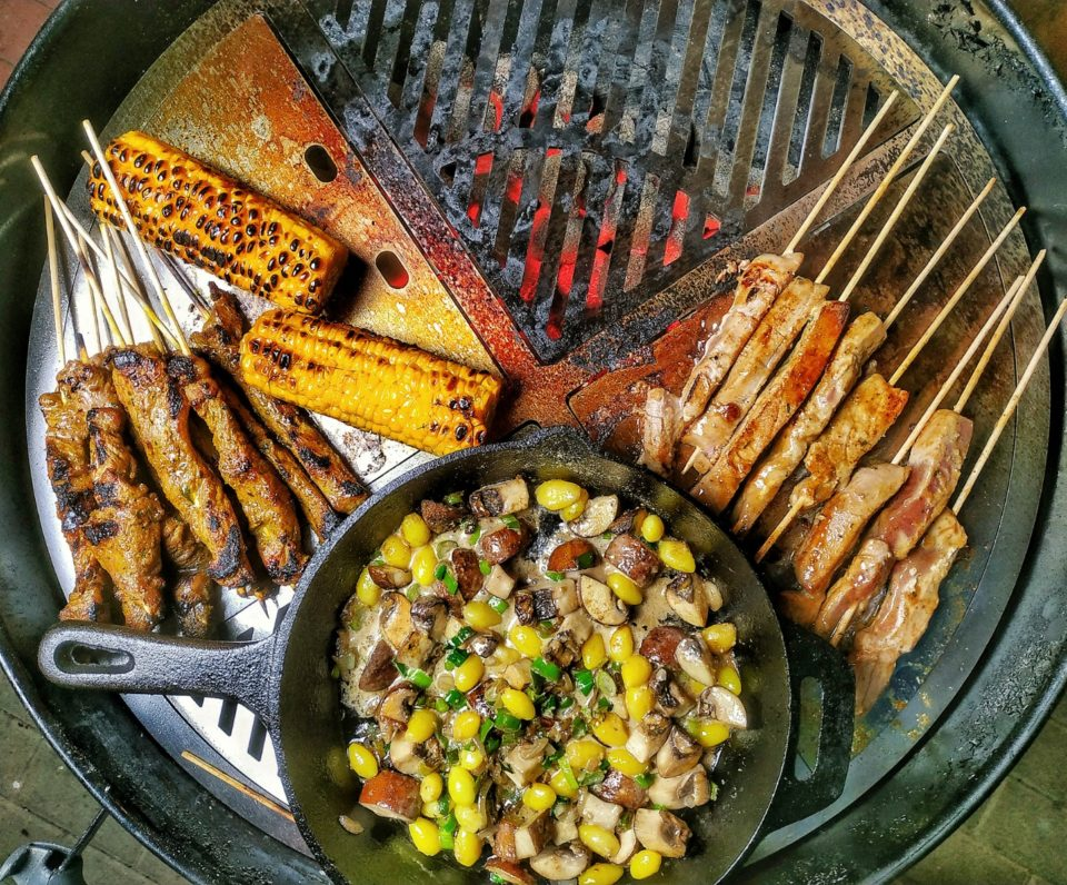 Satay vom Ribeye Steak und Thunfisch
