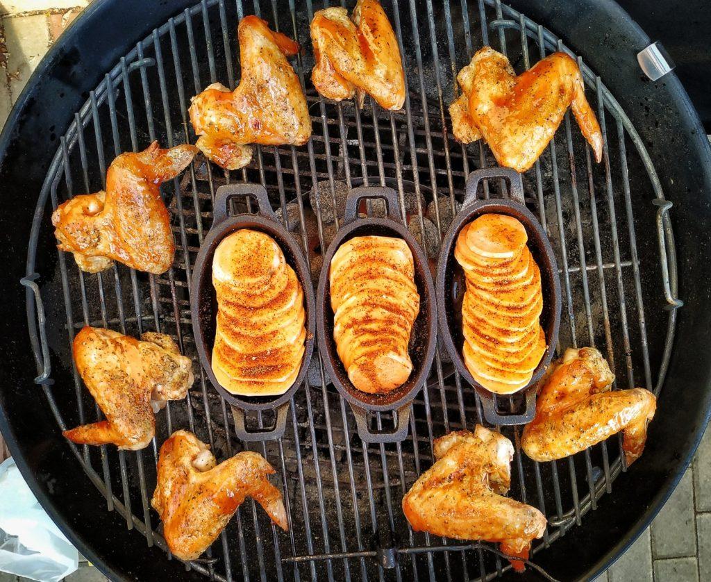 Chicken Wings vom Kugelgrill