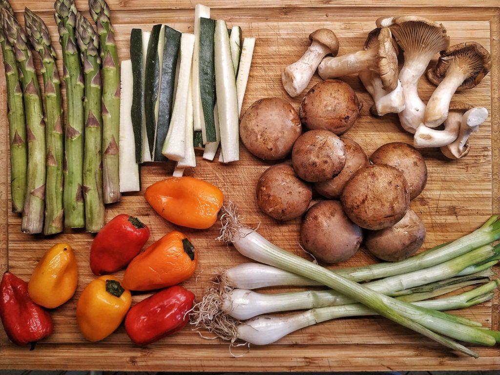 Zutaten für Grillgemüse