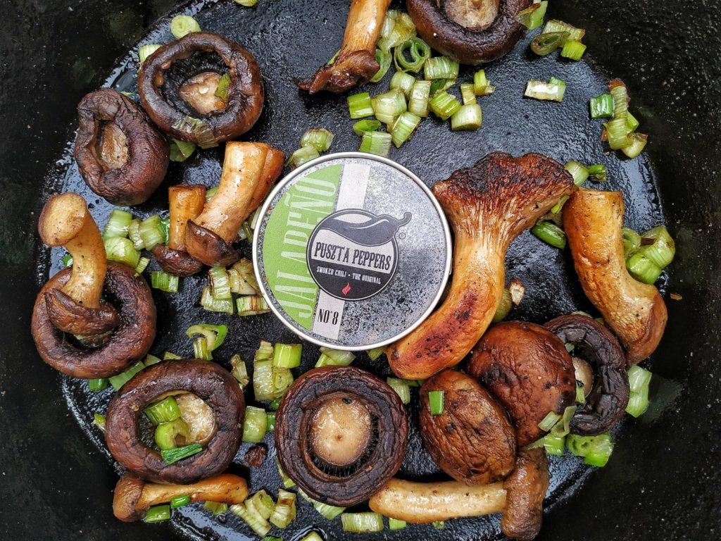 Pilze mit Smoked Jalapeno