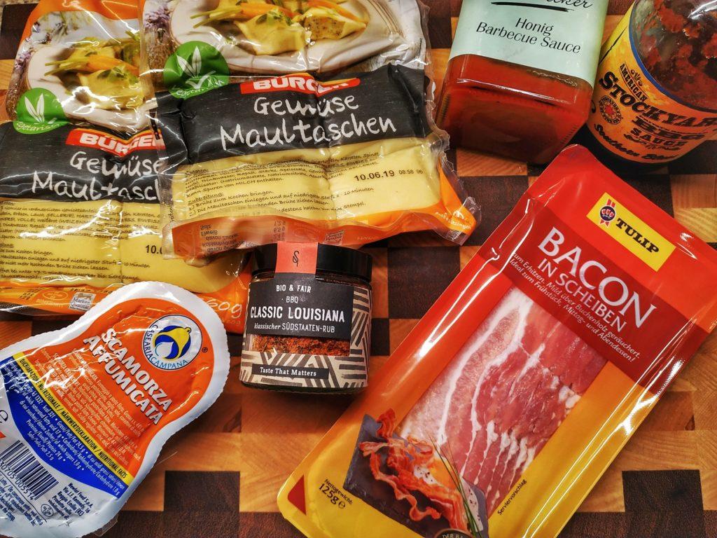 Zutaten für Maultaschen vom Grill