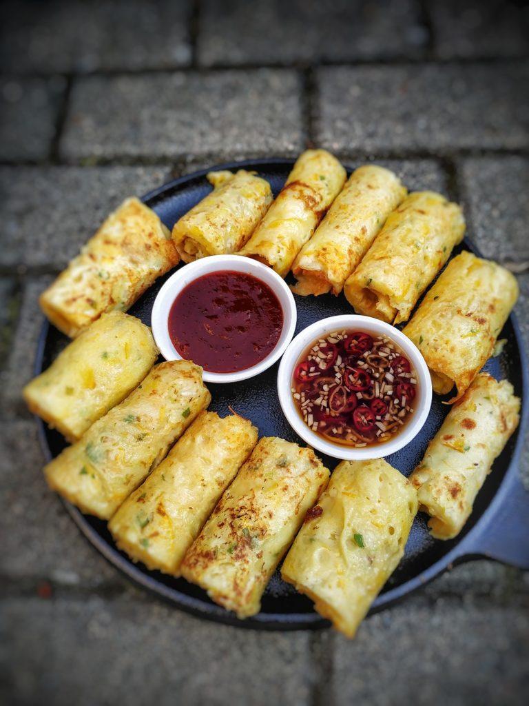 Asiatische Zucchini Pfannkuchen
