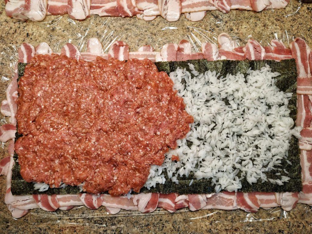 Japanische Bacon Bomb