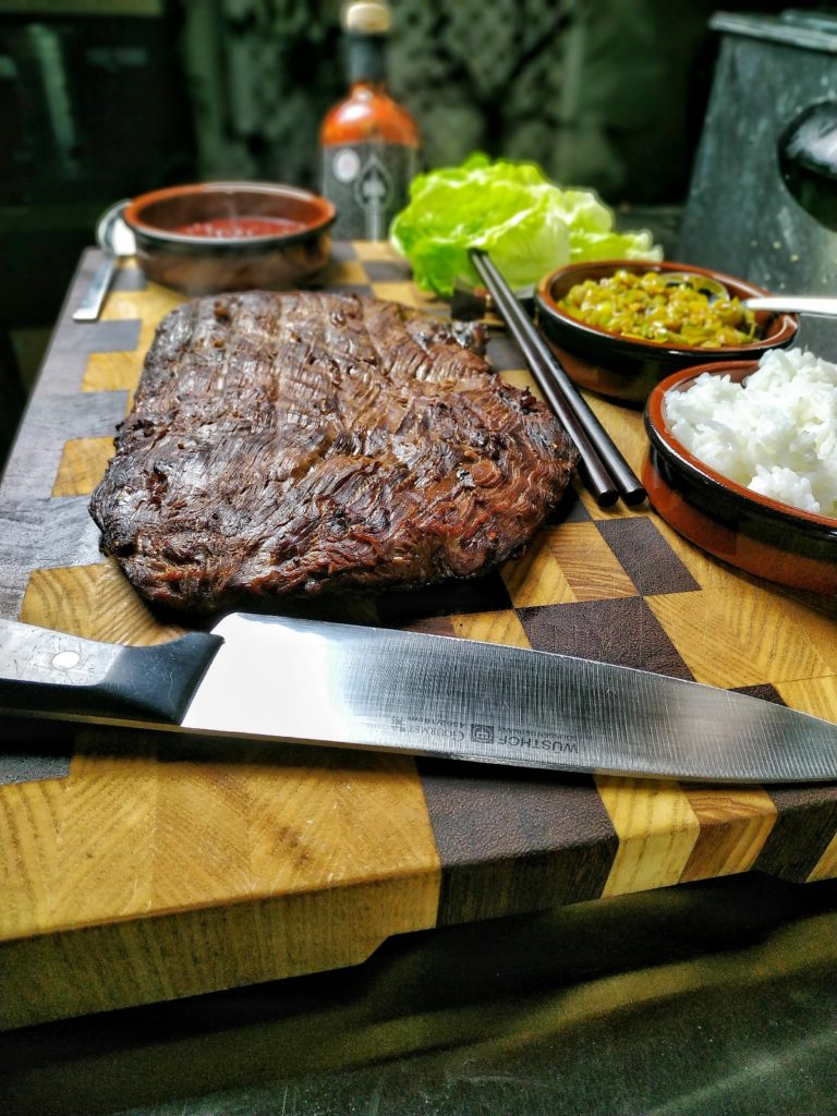 Flank Steak Fingerfood koreanisch - Ssam
