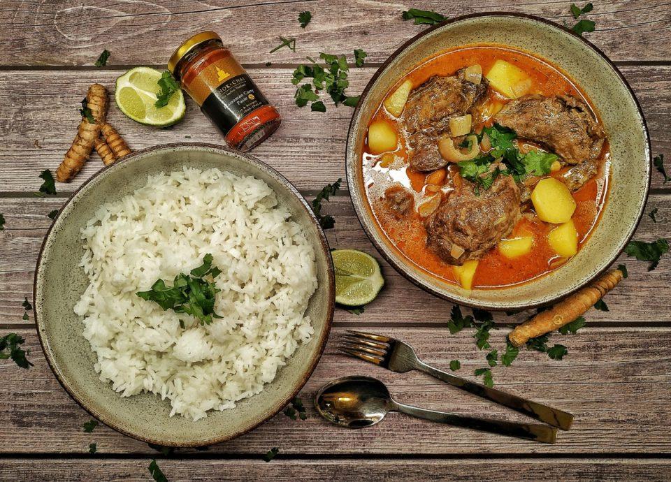 Massaman Curry mit Schweinebäckchen