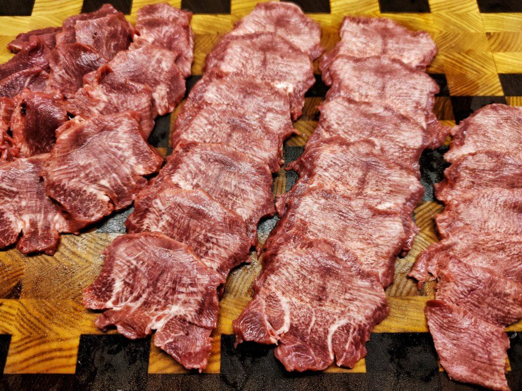 Gyutan - gegrillte japanische Rinderzunge