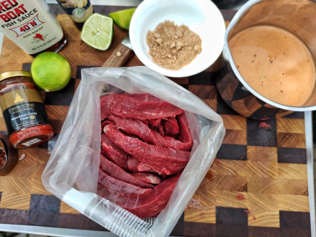 Zutaten für Thai Flank Steak Spieße