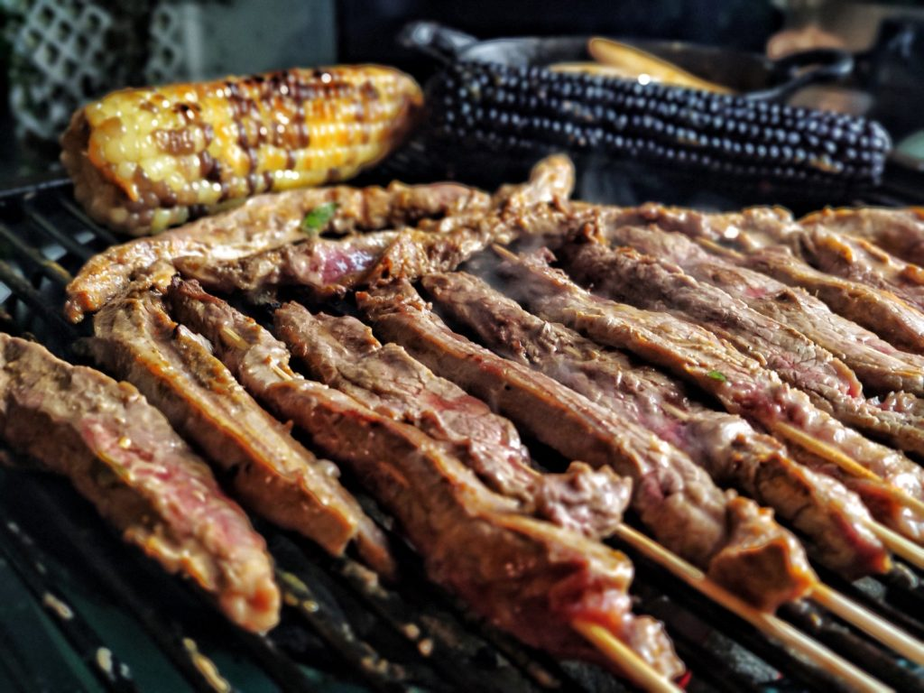 Thai Flank Steak Spieße