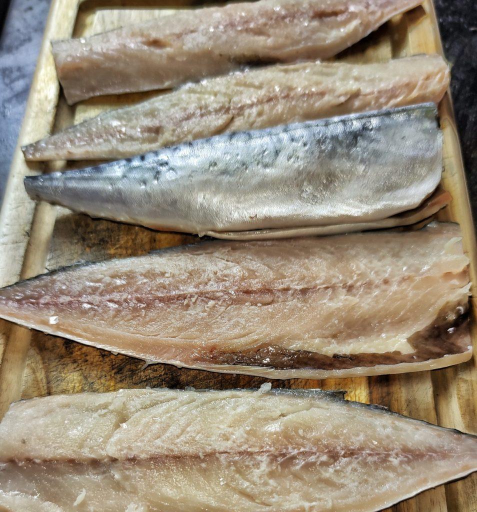 Makrelen-Filets für Saba Shioyaki