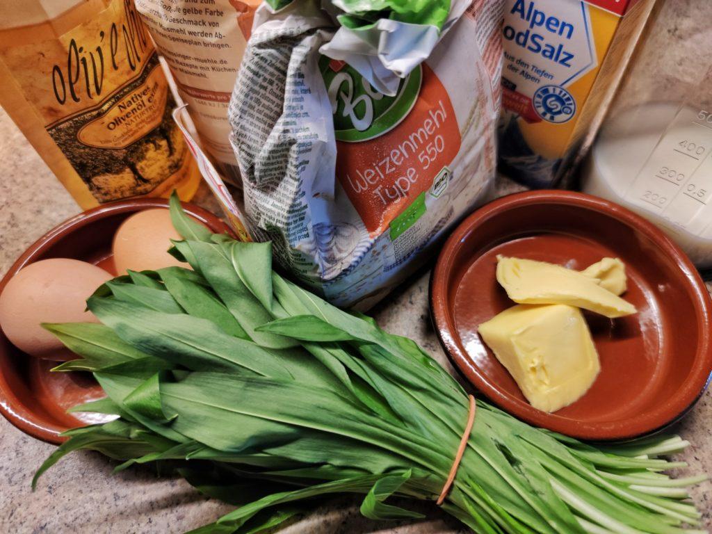 Zutaten für Maisbrot mit Bärlauch und Cheddar