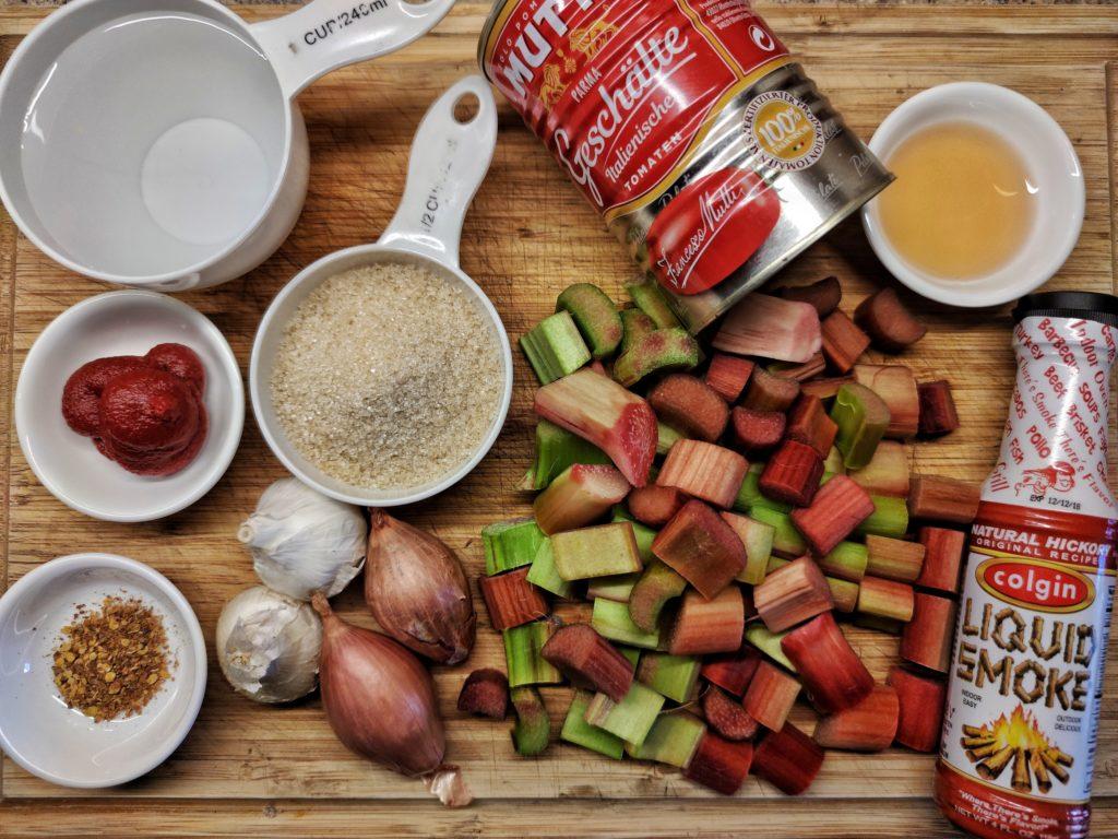 Zutaten für Rhaberbecue Sauce