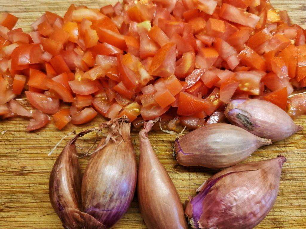 Zutaten für Kachumbari