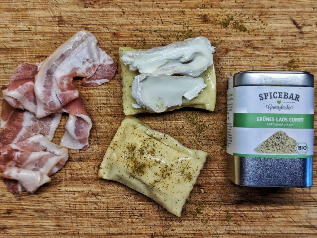 Maultaschen mit Käse und Bacon vom Smoker