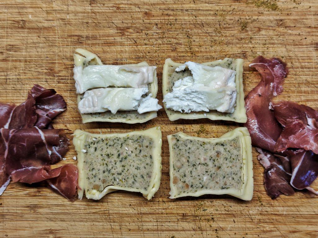 Maultaschen gefüllt mit Käse