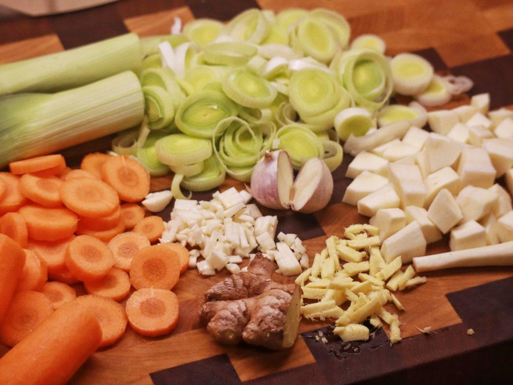 Gemüse für Chinesischer Eintopf