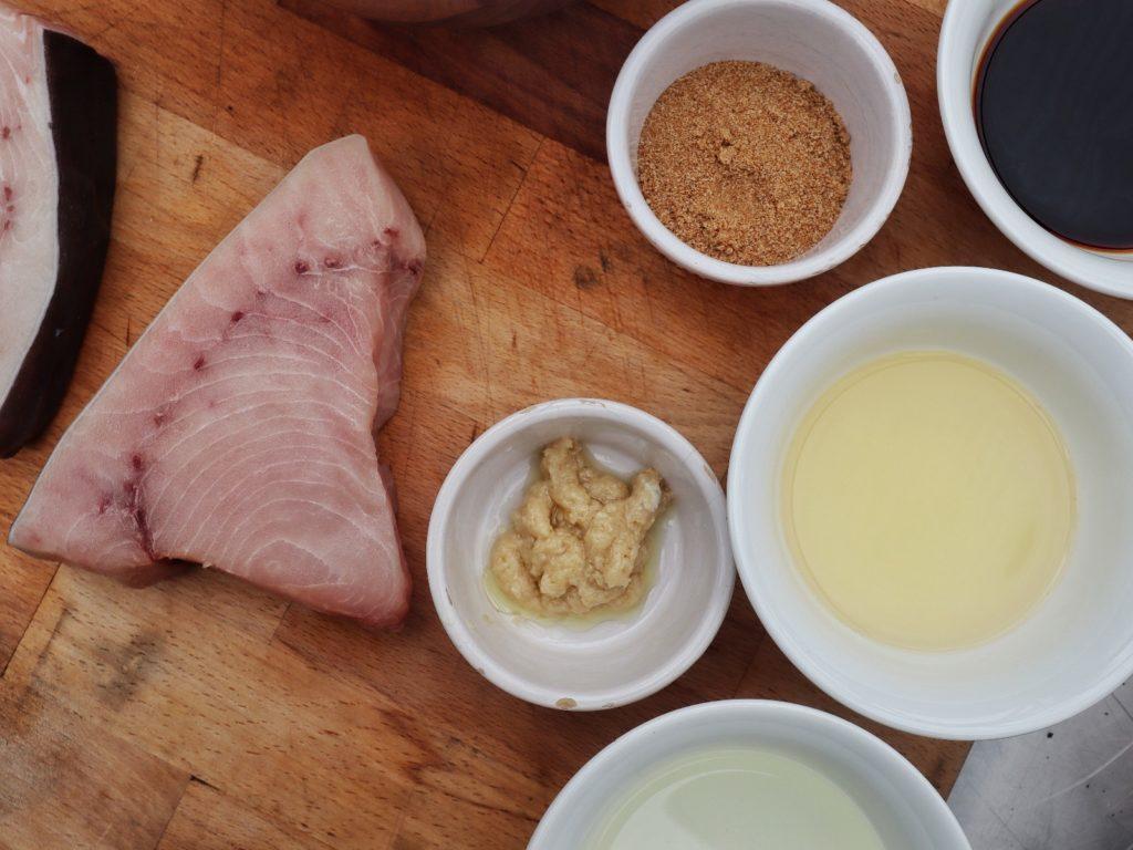 Zutaten für Marinade von Schwertfisch