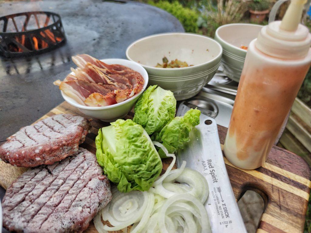 Zutaten für Kimchi Burger