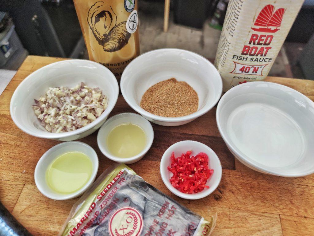Zutaten für Thai süß-scharfe Chili Sauce