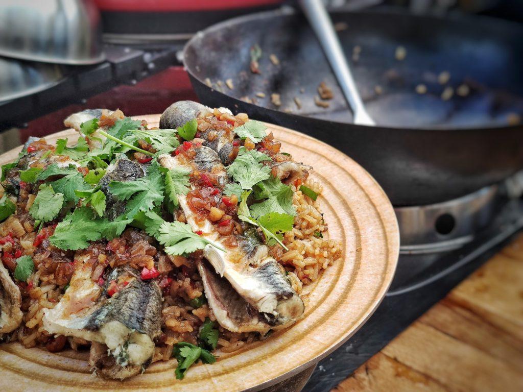 Hornhecht Thai Style mit süß-scharfer Chili-Sauce